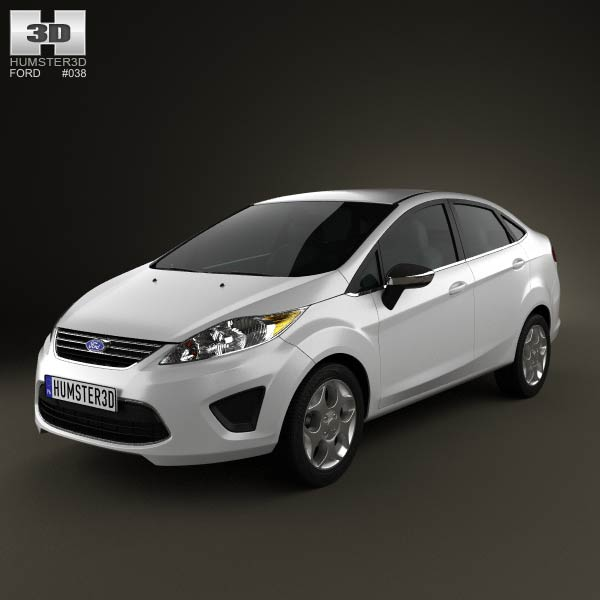 ford fiesta sedan us 2012 3d model humster3d. Black Bedroom Furniture Sets. Home Design Ideas