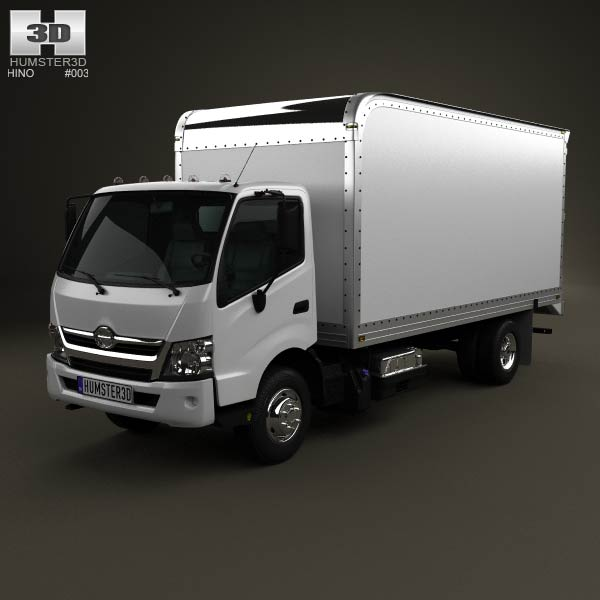 Hino 195 Hybrid Box Truck 2012 3d car model
