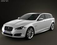 3D model of Jaguar XF Sportbrake 2012