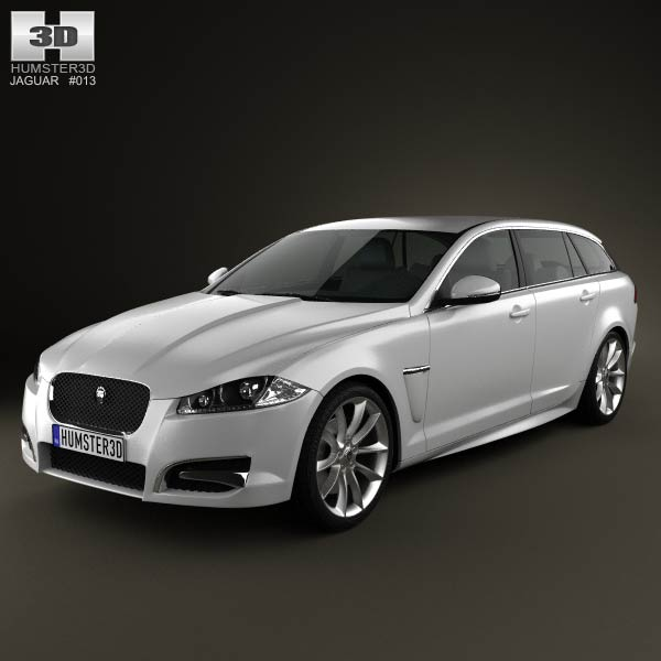 Jaguar XF Sportbrake 2012 3d car model