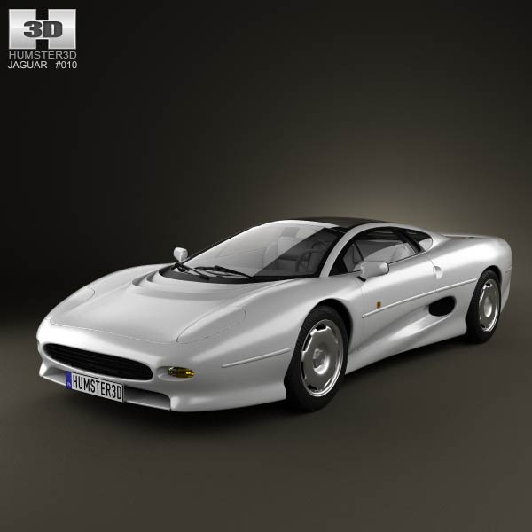 Jaguar XJ220 1992 3d car model