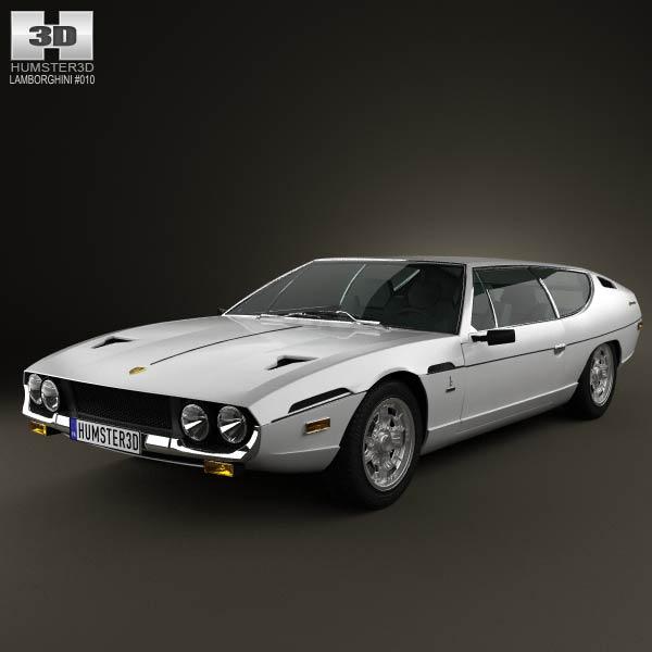 3D model of Lamborghini Espada 1968-1978