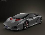 3D model of Lamborghini Sesto Elemento 2011
