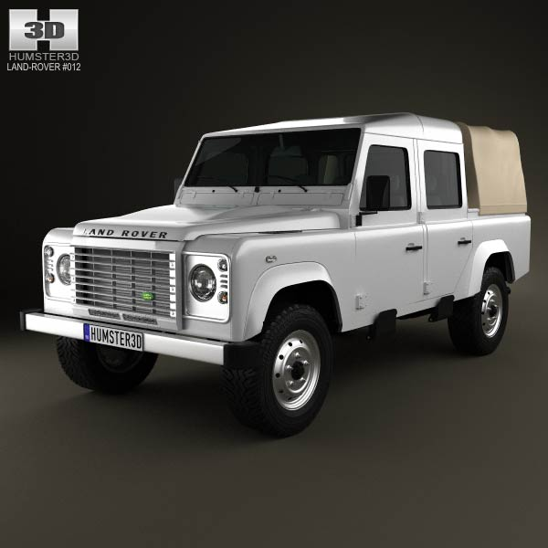 Land Rover Defender 110 Double Cab pickup 2011 3d car model