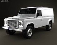 3D model of Land Rover Defender 110 hardtop 2011
