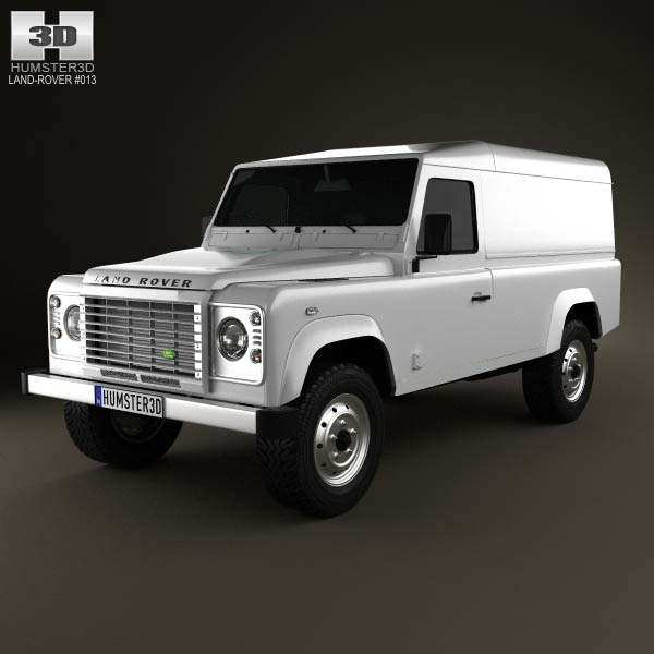 Land Rover Defender 110 hardtop 2011 3d car model