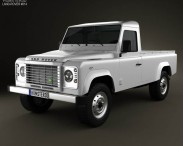 3D model of Land Rover Defender 110 pickup 2011