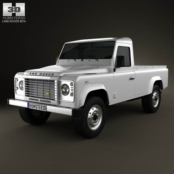 Land Rover Defender 110 pickup 2011 3d car model