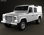 3D model of Land Rover Defender 110 Utility Wagon 2011