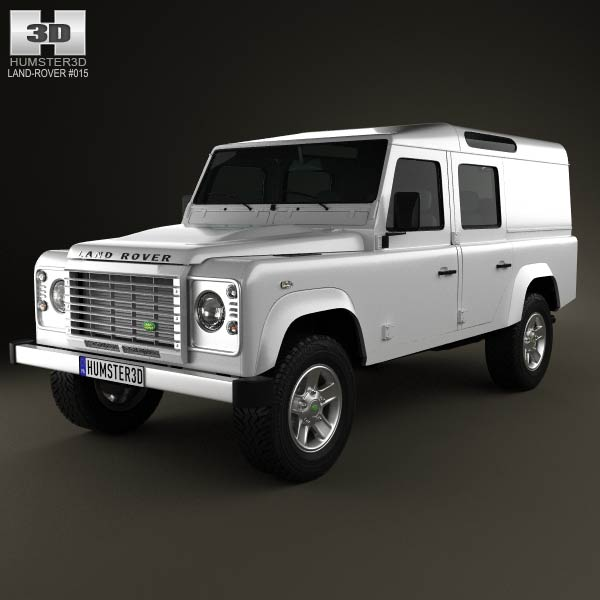 Land Rover Defender 110 Utility Wagon 2011 3d car model