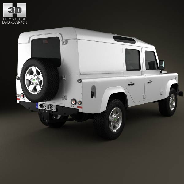 Land Rover Defender 110 Utility Wagon 2011 3d model