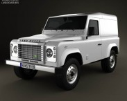 3D model of Land Rover Defender 90 hardtop 2011
