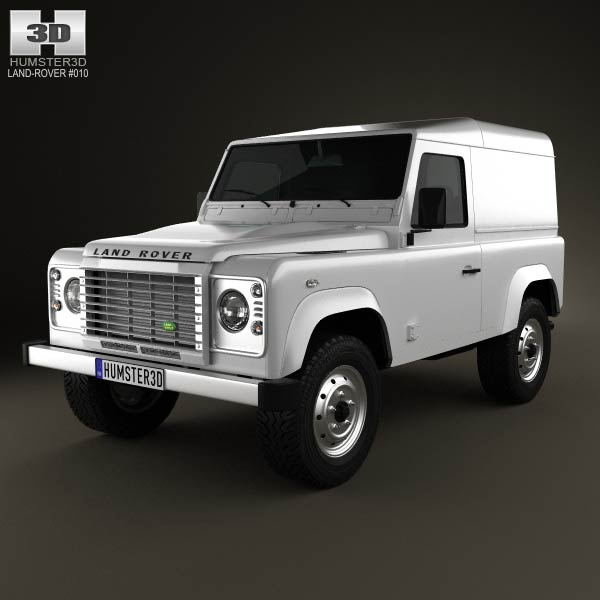 Land Rover Defender 90 hardtop 2011 3d car model