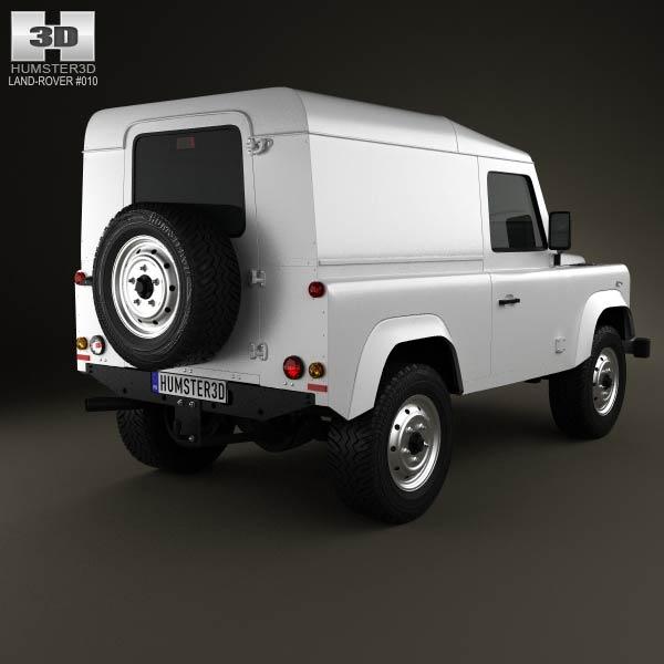Land Rover Defender 90 hardtop 2011 3d model