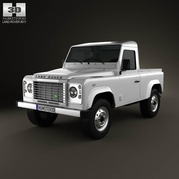 Land Rover Defender 90 pickup 2011 3d car model