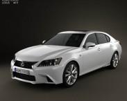 3D model of Lexus GS F Sport hybrid (L10) 2012