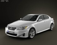 3D model of Lexus IS (XE20) 2012