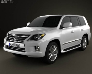 3D model of Lexus LX 2013