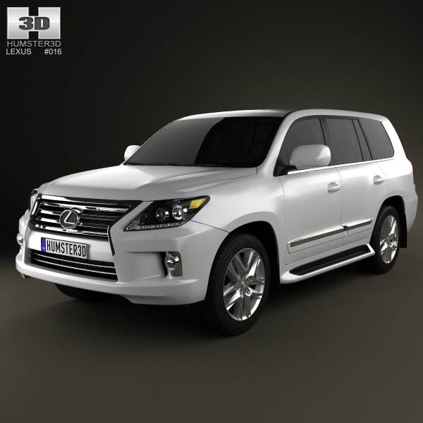 Lexus LX 2013 3d car model