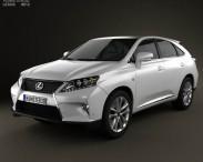 3D model of Lexus RX F Sport hybrid (AL10) 2012