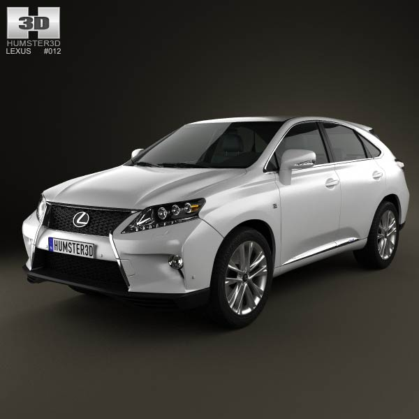Lexus RX F Sport hybrid (AL10) 2012 3d car model