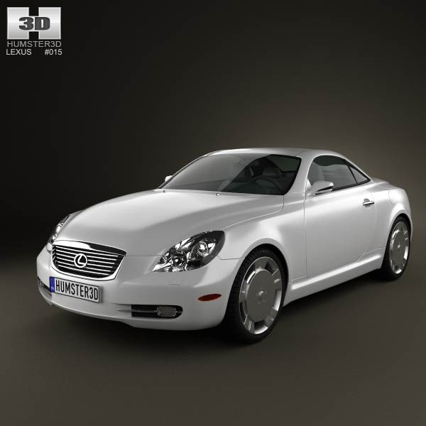 Lexus SC (Z40) 2007 3d car model