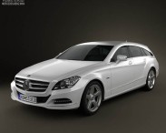 Mercedes-Benz CLS-Class X218 Shooting Brake 2013 3d car model