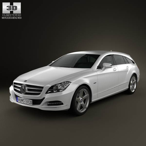 3D model of Mercedes-Benz CLS-Class X218 Shooting Brake 2013