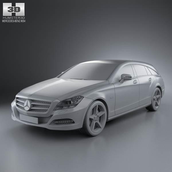 Mercedes benz cls class x218 shooting brake 2013 3d model for 2013 mercedes benz cls class