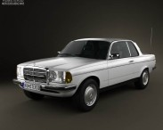 3D model of Mercedes-Benz E-Class W123 coupe 1975