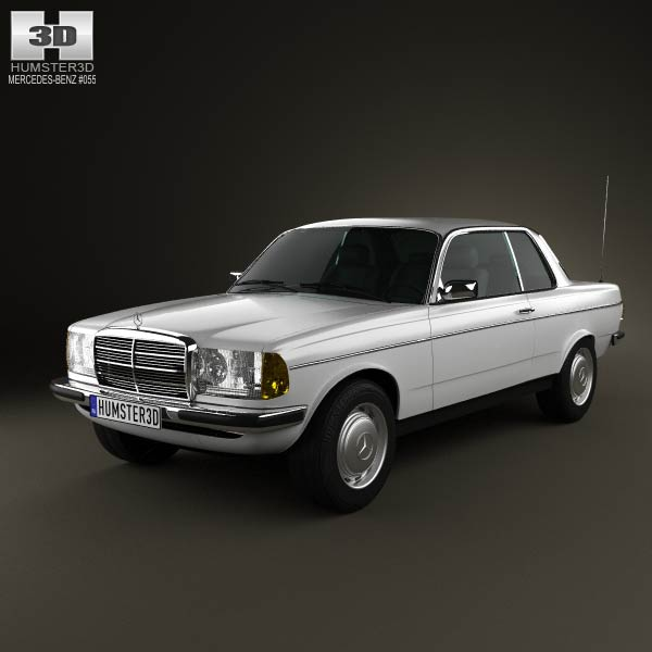 Mercedes benz e class w123 coupe 1975 3d model humster3d for Mercedes benz e class models