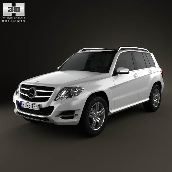 Mercedes benz glk class x204 2013 3d model humster3d for Mercedes benz suv models 2013