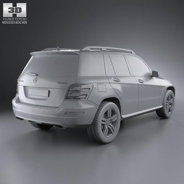 Mercedes benz glk class x204 2013 3d model humster3d for Mercedes benz glk class 2013