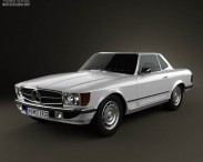 Mercedes-Benz SL-Class R107 coupe 1972 3d car model