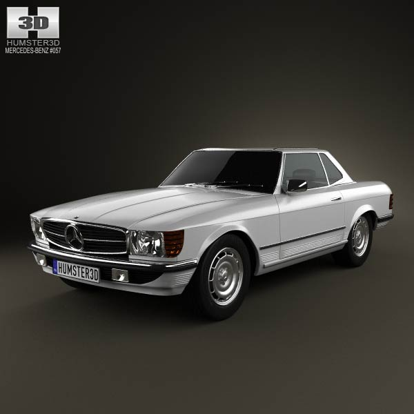3D model of Mercedes-Benz SL-Class R107 coupe 1972