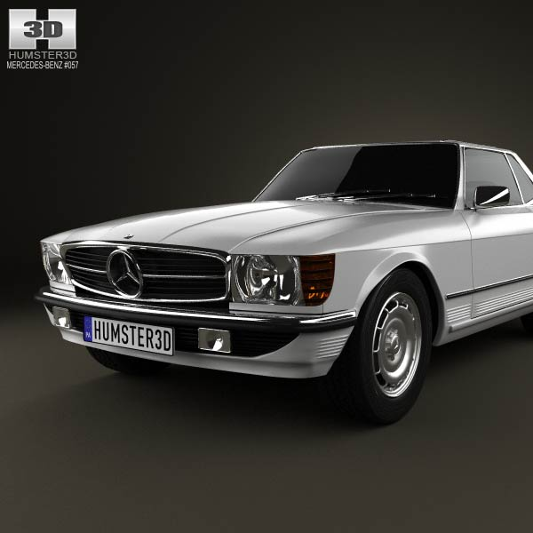 Mercedes benz sl class r107 coupe 1972 3d model humster3d for Mercedes benz coupe models