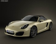 3D model of Porsche Boxster S 981 2013