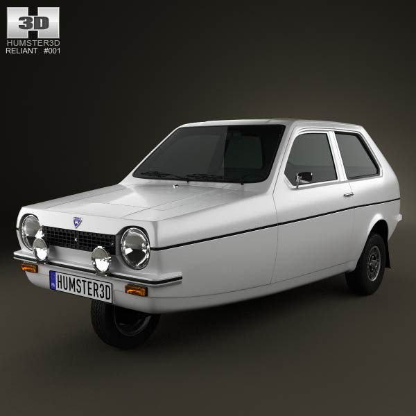Reliant Robin 1973 3d car model