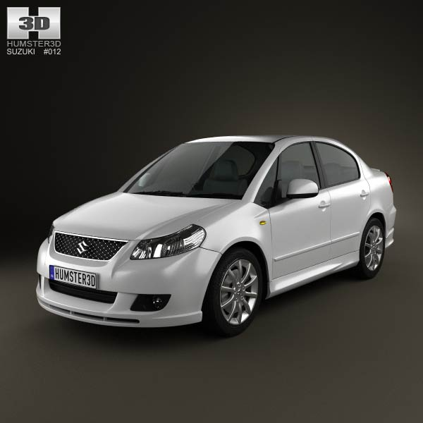 Suzuki (Maruti) SX4 sedan 2012 3d car model
