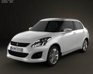 3D model of Suzuki (Maruti) Swift Dzire sedan 2012
