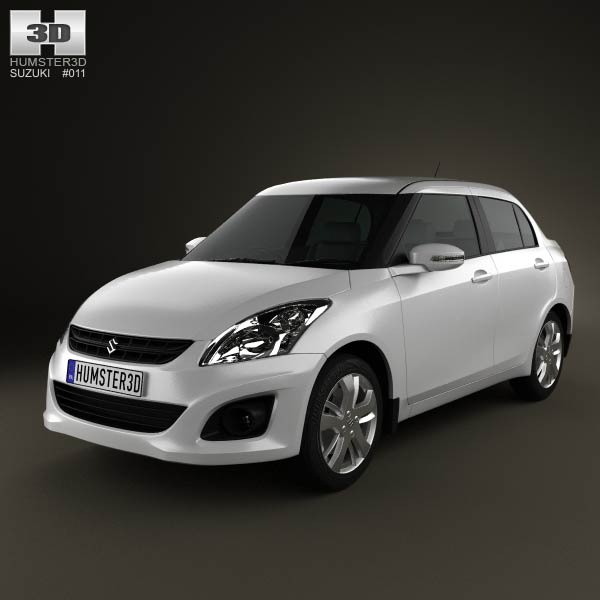 Suzuki (Maruti) Swift Dzire sedan 2012 3d car model