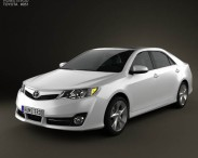 3D model of Toyota Camry US SE 2012