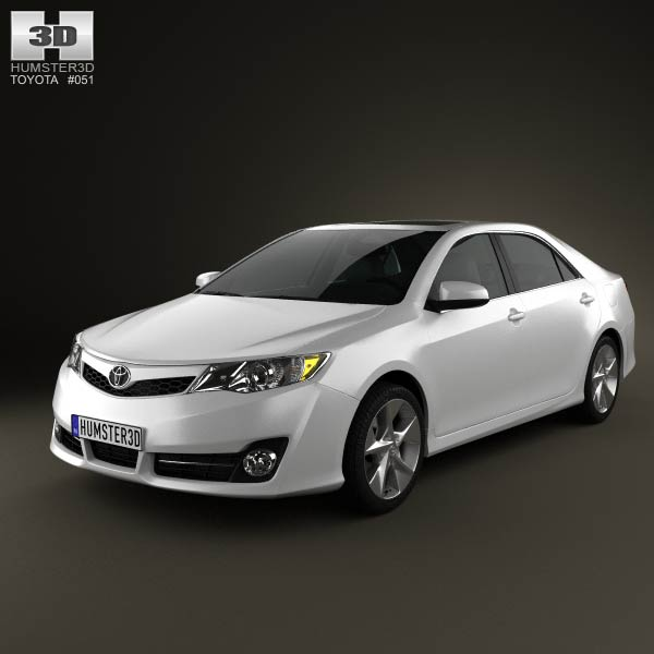 Toyota Camry US SE 2012 3d car model
