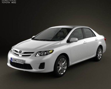 3D model of Toyota Corolla LE 2012