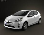 3D model of Toyota Prius C (Aqua) 2012