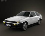 Toyota Sprinter Trueno AE86 3-door 1985 3d car model