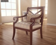 3D model of X Back Accent chair