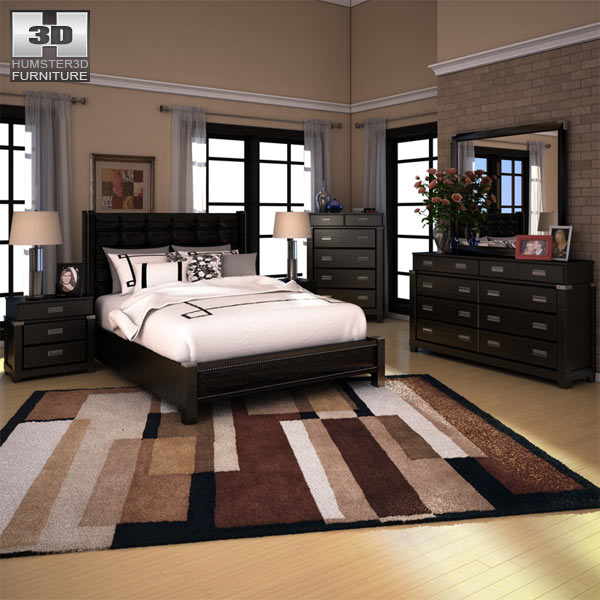 bedroom set 3d model 3