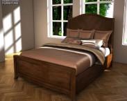 3D model of Ashley Ashlyn Queen Sleigh Bed