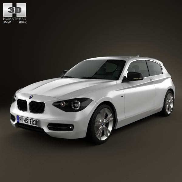 BMW 1 Series (F21) 3-door 2012 3d car model